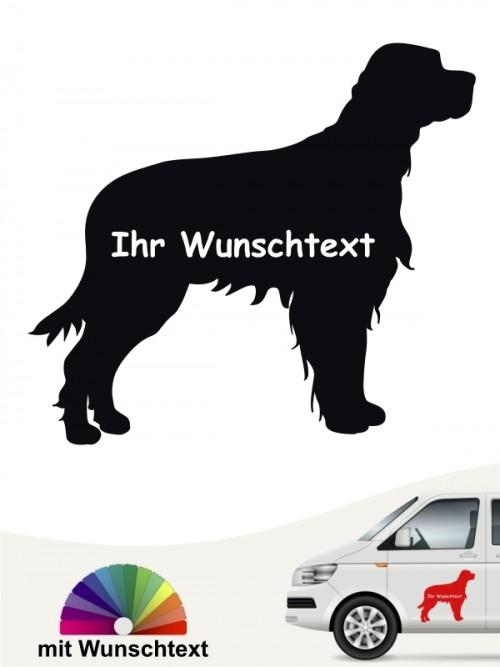 Gordon Setter Silhouette Aufkleber mit Wunschname anfalas.de