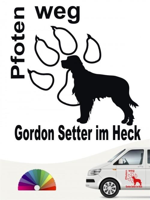 Gordon Setter Pfoten weg Autoaufkleber anfalas.de