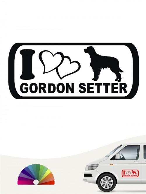Gordon Setter I Love Aufkleber anfalas.de