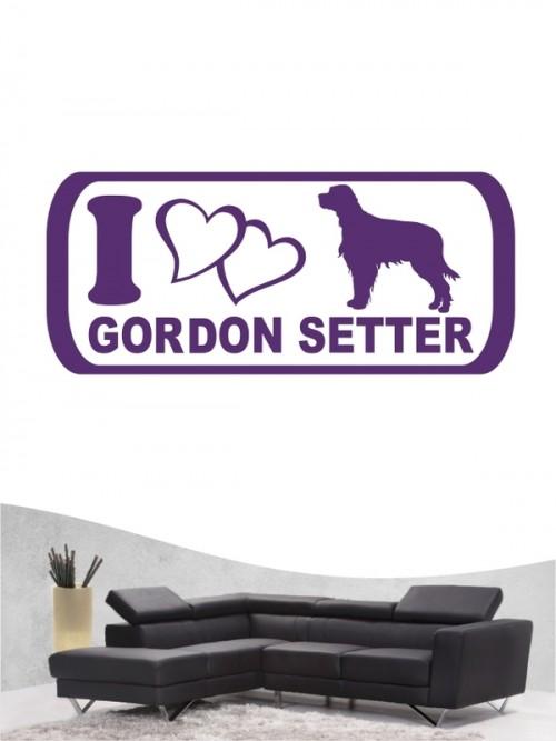 Gordon Setter 6 Wandtattoo