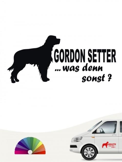 Was denn sonst Hundeaufkleber Gordon Setter anfalas.de