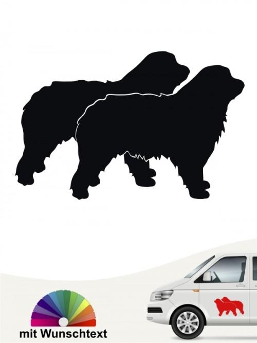 Hunde-Autoaufkleber Gos d'Atura Català 3 von Anfalas.de