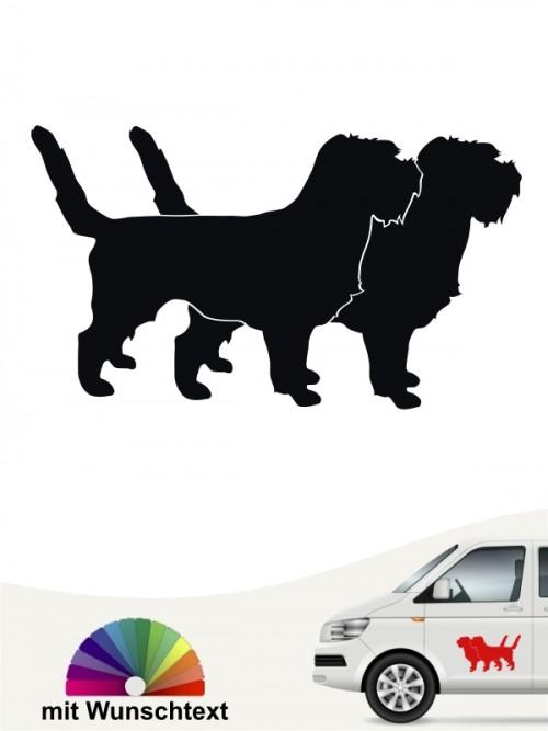 Grand Basset Griffon doppel Silhouette Autoaufkleber anfalas.de