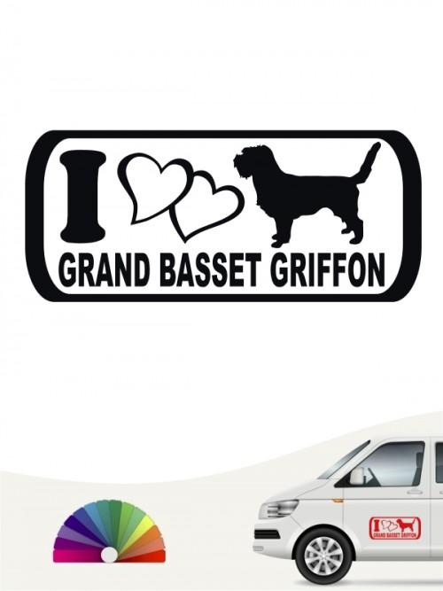 I Love Grand Basset Griffon Hundeaufkleber anfalas.de
