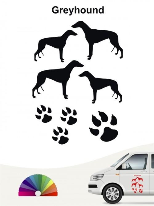 Hunde-Autoaufkleber Greyhound 12 von Anfalas.de