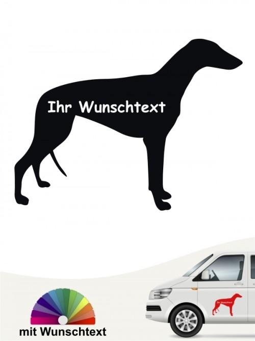 Greyhound Silhouette mit Wunschtext Aufkleber anfalas.de