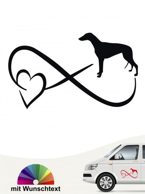 Greyhound Autoaufkleber von anfalas.de