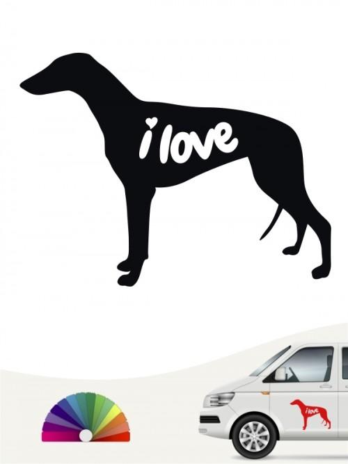 Greyhound  i love Aufkleber von anfalas.de