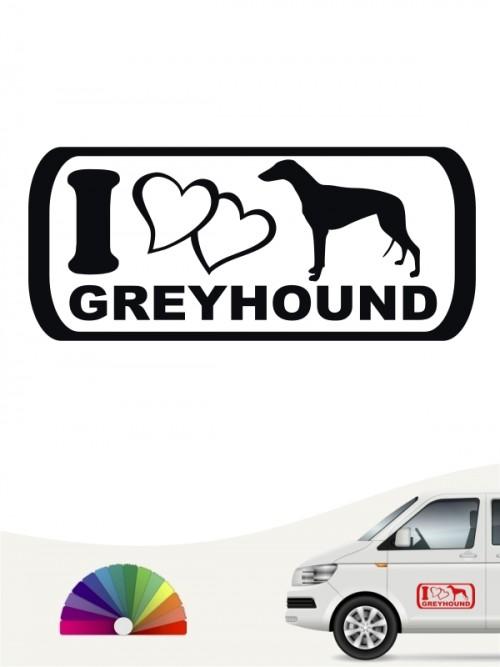 I Love Greyhound Heckscheibenaufkleber anfalas.de