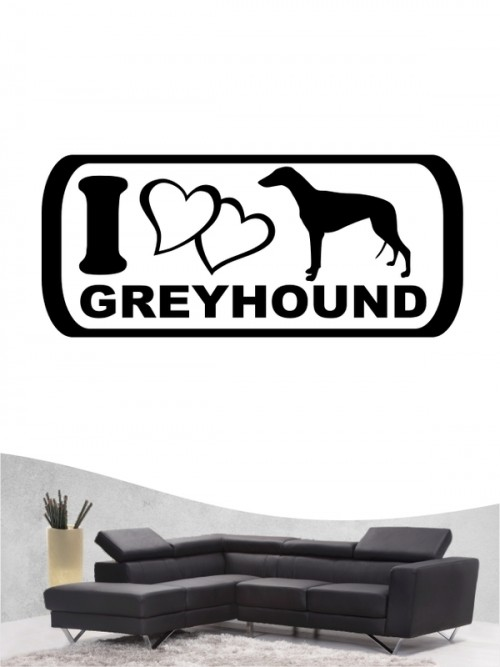 Greyhound 6 - Wandtattoo