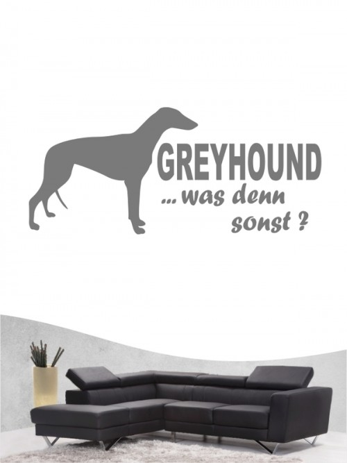 Greyhound 7 - Wandtattoo