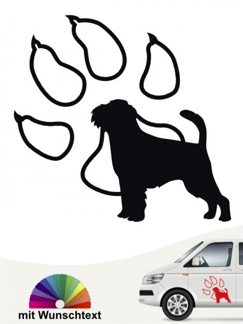 Griffon Bruxellois Autosticker mit Pfote und Wunschtext von anfalas.de