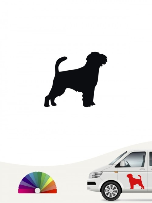 Hunde-Autoaufkleber Griffon Bruxellois 1 Mini von Anfalas.de