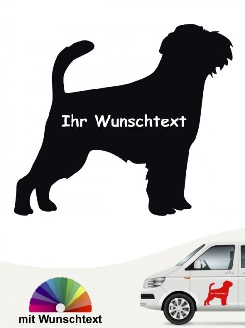 Griffon Bruxellois Silhouette Autosticker mit Wunschname von anfalas.de