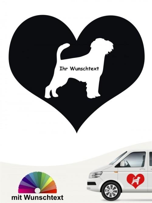 Griffon Bruxellois Herzmotiv mit Wunschname von anfalas.de