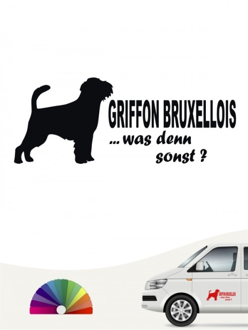 Griffon Bruxellois was denn sonst Aufkleber von anfalas.de