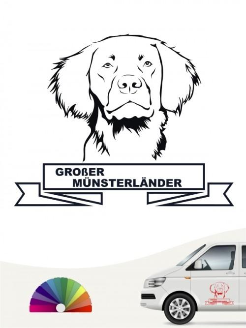 Hunde-Autoaufkleber Großer Münsterländer 15 von Anfalas.de