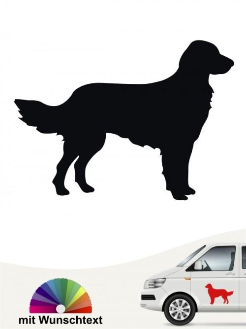 Großer Münsterländer Silhouette Sticker mit Wunschtext anfalas.de