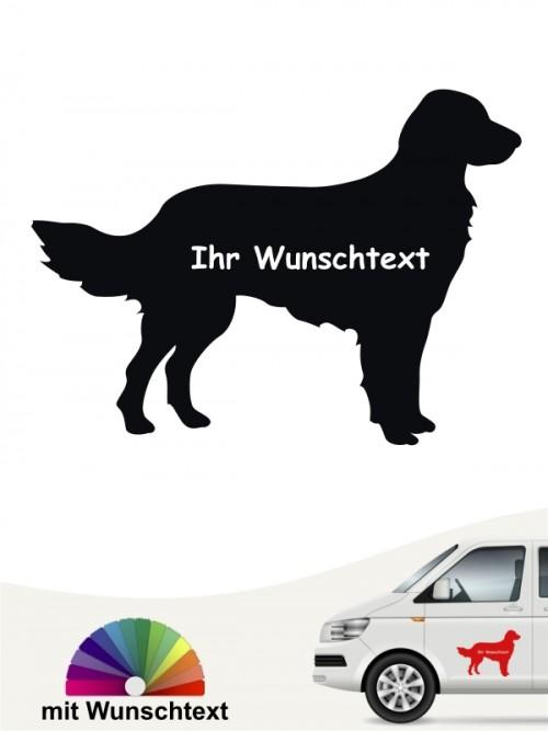 Großer Münsterländer Hundeaufkleber Silhouette mit Wunschtext von anfalas.de
