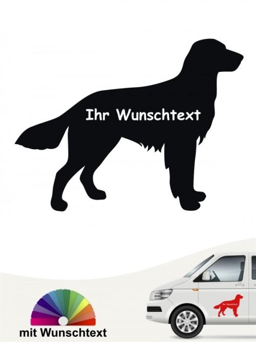 Großer Münsterländer Autosticker Silhouette mit Wunschtext von anfalas.de