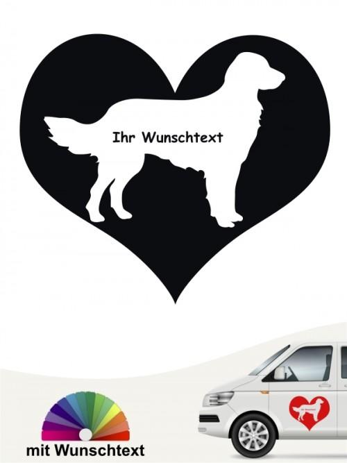 Großer Münsterländer Herzmotiv Sticker mit Wunschname von anfalas.de