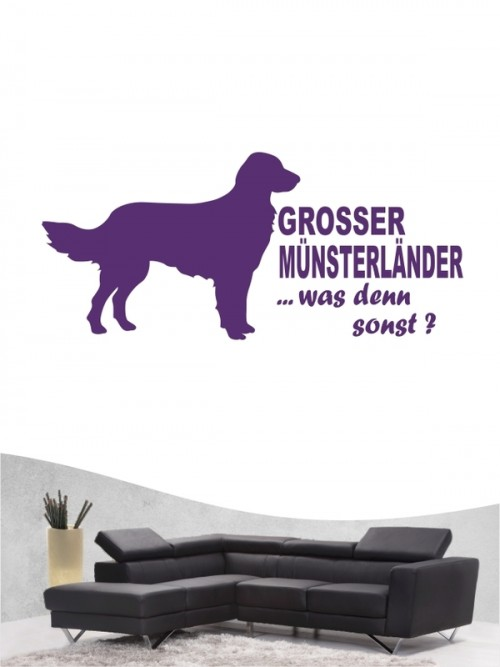 Großer Münsterländer 7 Wandtattoo