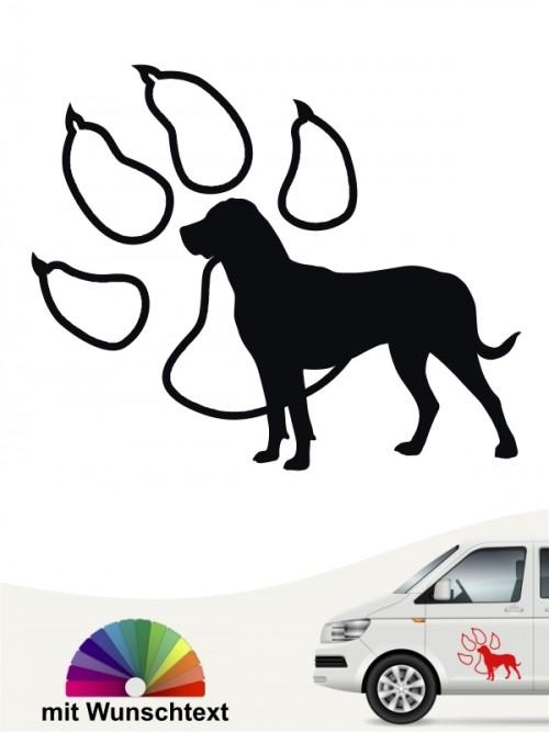 Grosser Schweizer Sennenhund mit Pfote und Wunschtext von anfalas.de