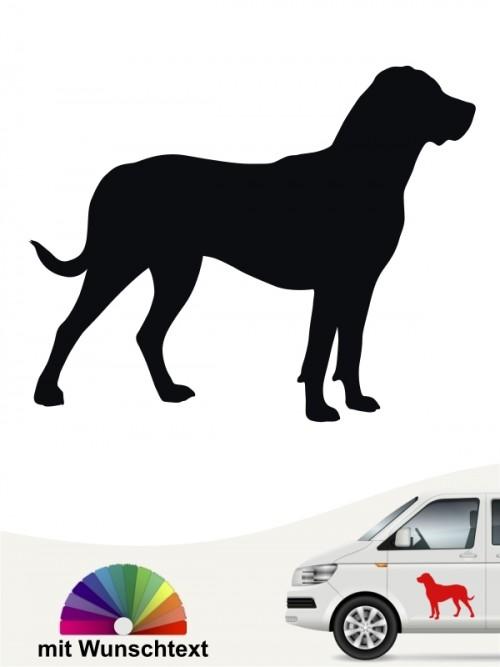 Grosser Schweizer Sennenhund Aufkleber mit Wunschtext von anfalas.de