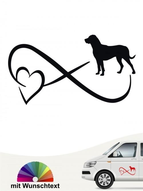 Großer Schweizer Sennenhund Autoaufkleber von anfalas.de