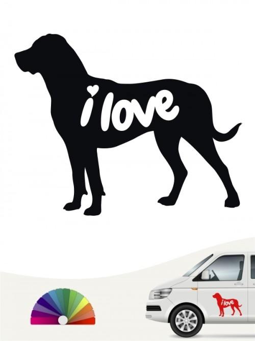 Großer Schweizer Sennenhund  i love Aufkleber von anfalas.de