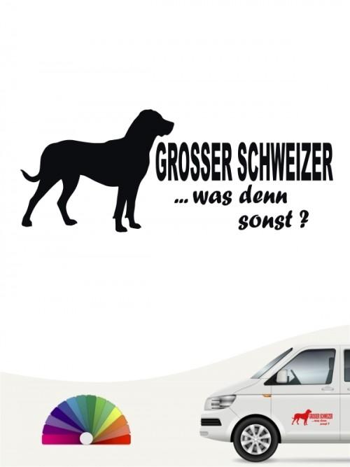 Grosser Schweizer Sennenhund was denn sonst Autosticker von anfalas.de