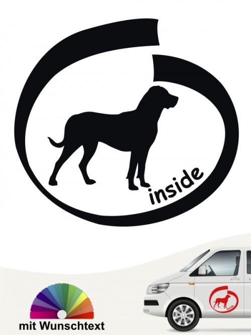 Grosser Schweizer Sennenhund inside Aufkleber mit Wunschname von anfalas.de