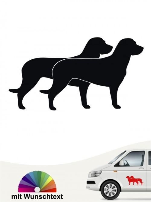 Doppel Silhouette Hannoverscher Schweißhund Autoaufkleber von anfalas.de