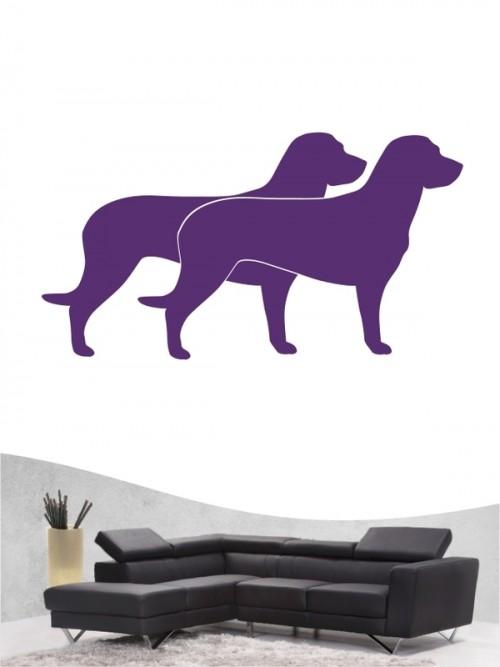 Hannoverscher Schweißhund 2 - Wandtattoo