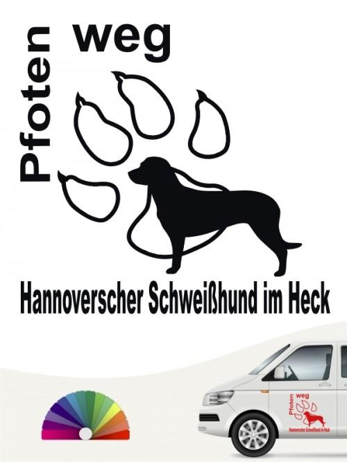 Pfoten weg Aufkleber Hannoverscher Schweißhund von anfalas.de