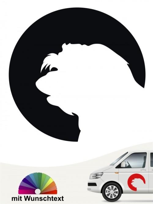 Havaneser Autoaufkleber mit Wunschtext von anfalas.de