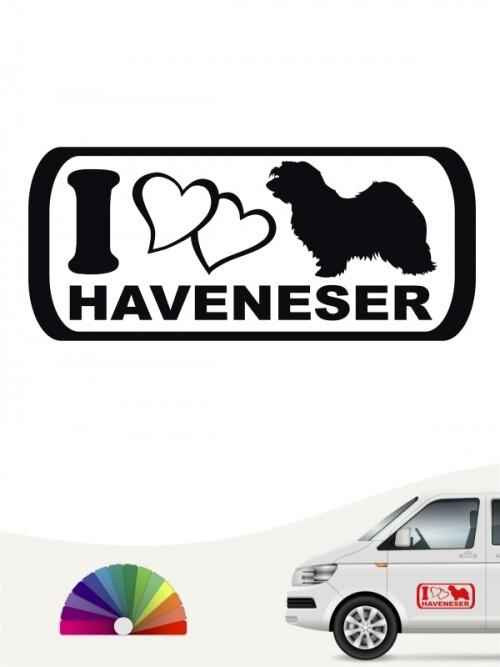 I Love Havaneser Autosticker von anfalas.de
