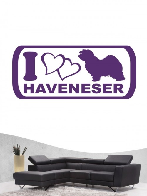 Havaneser 6 - Wandtattoo