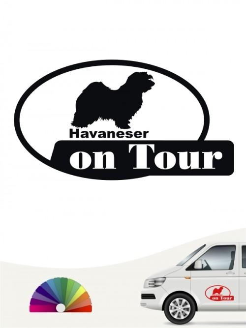 Havaneser on Tour Autosticker von anfalas.de