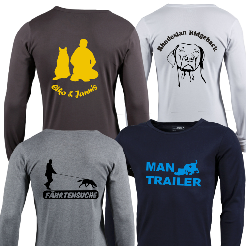 Herren Langarm-Shirt mit Hundemotiv von anfalas