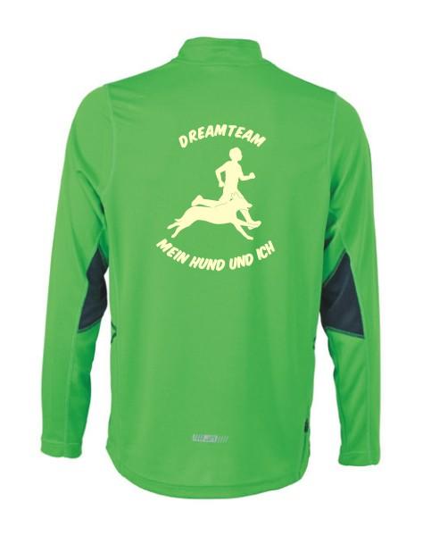 Herren Running Langarm Shirt mit Hundesport Motiv von anfalas.de