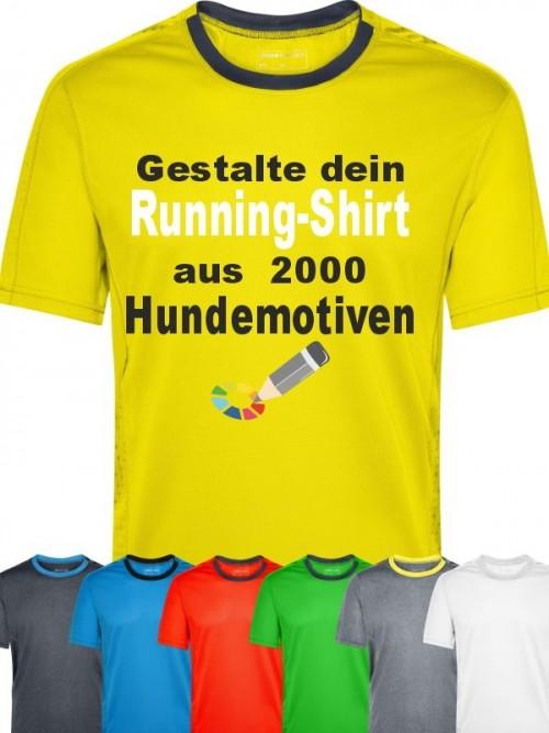 Herren Running T-Shirt mit Wunschmotiv von anfalas.de