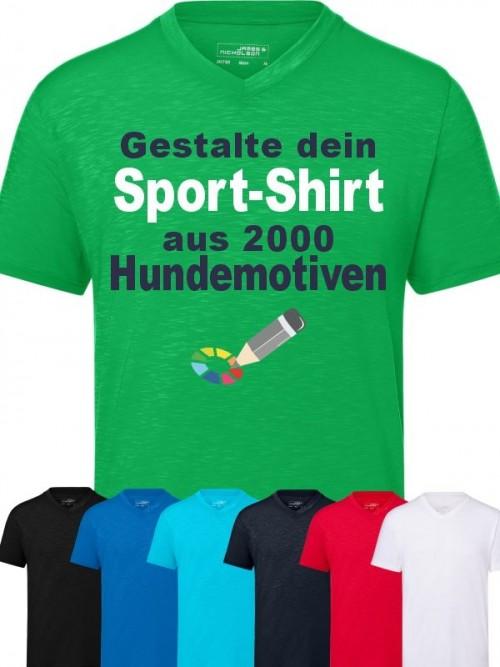 Herren Sport T-Shirt mit Wunschmotiv von anfalas.de