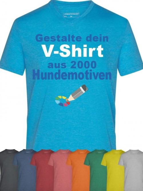 V-Shirt mit Hundemotiv von Anfalas.de