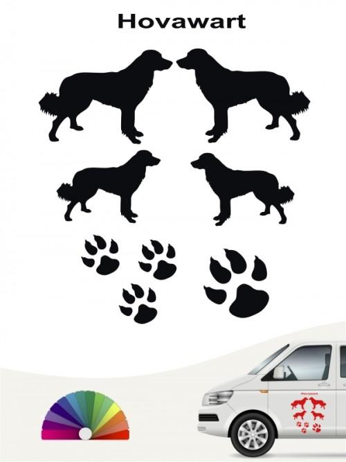 Hunde-Autoaufkleber Hovawart 12 von Anfalas.de