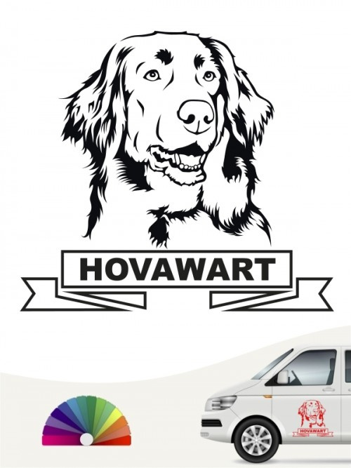 Hunde-Autoaufkleber Hovawart 15a von Anfalas.de