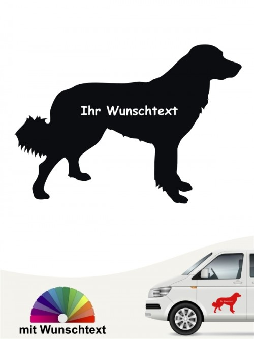 Hovawart Autosticker mit Wunschtext von anfalas.de