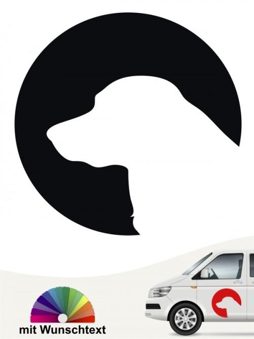 Hovawart Sticker mit Wunschtext von anfalas.de