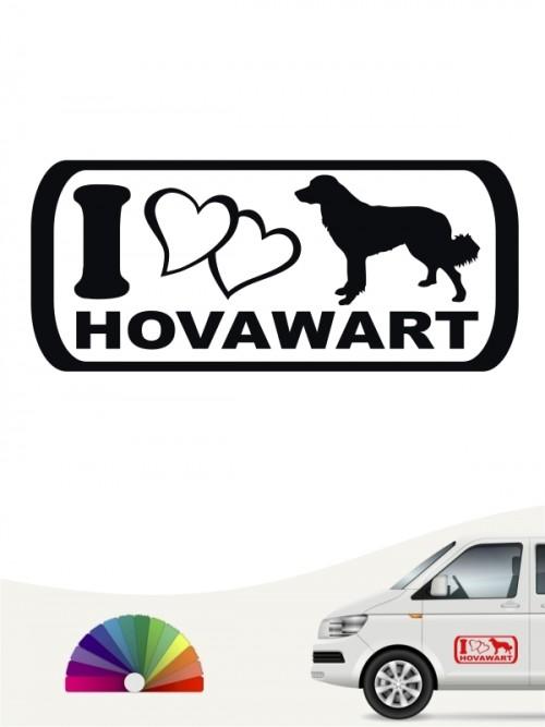 I Love Hovawart Heckscheibenaufkleber von anfalas.de