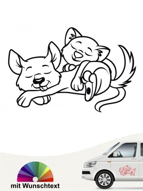 Hunde-Autoaufkleber Hund & Katze 1 von Anfalas.de